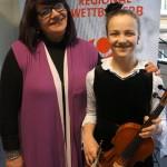 Mariana Suciu mit Schülerin Rhoda Knötzele, AGr. II, 24 Punkte, 1. Platz, Weiterleitung in den Landeswettbewerb