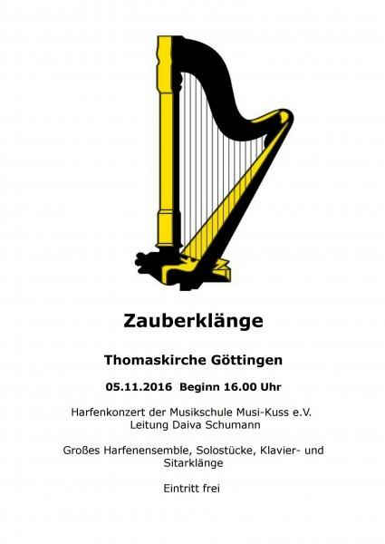 Harfenkonzert am 5.11.2016