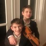 Beim Jugend musiziert Wettbewerb: Sören Diederichsen (Geige) und Thorben Diederichsen (Klavier), Duo Geige-Klavier, 25 Punkte