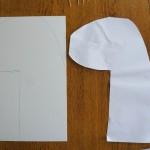 Die Form spiegelverkehrt auf andere Pappe uebertragen