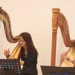Harfen Duo, Daiva Schumann mit ihrer Schülerin, ©Michael Hoetzel DGPh