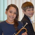 Cecilia Asmus León (Trompete) und Thorben Diederichsen (Klavier), AGr. IB, 24 Punkte, 1. Platz
